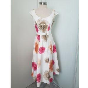 Calvin Klein Floral Print Dress